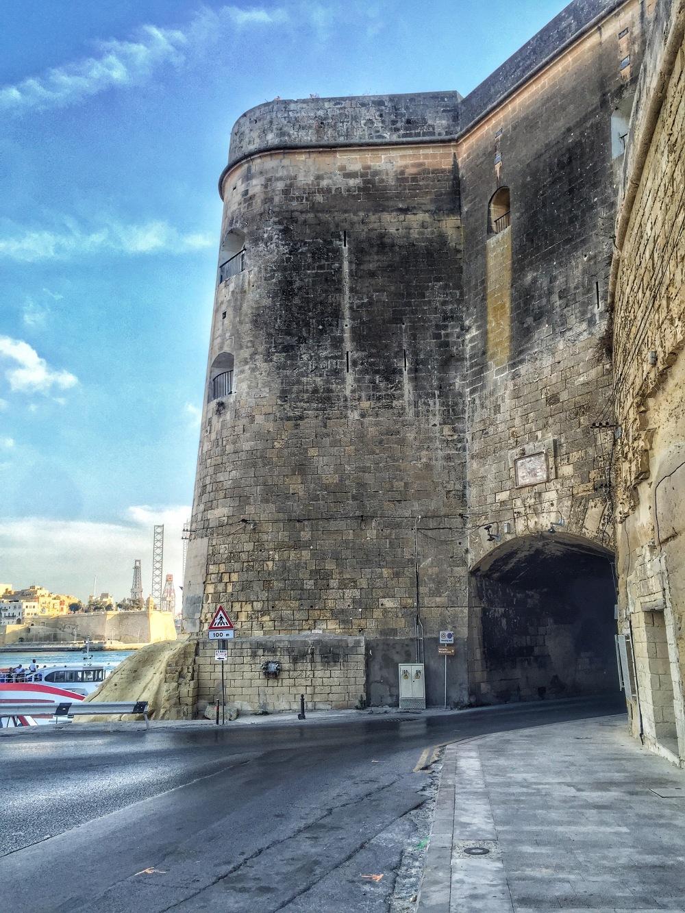 Malta fortress walls